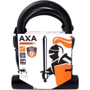 Axa beugelslot Newton Mini + Cable 100/8 kopen bij FlorisFietsen in Hoogezand