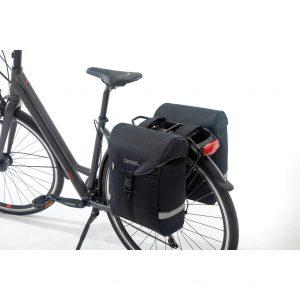 Cameo fietstas dubbel Sports bag black kopen bij FlorisFietsen in Hoogezand