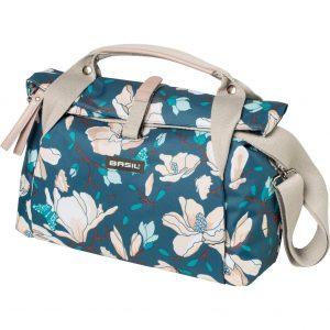 Basil stuurtas Magnolia teal blue kopen bij FlorisFietsen in Hoogezand