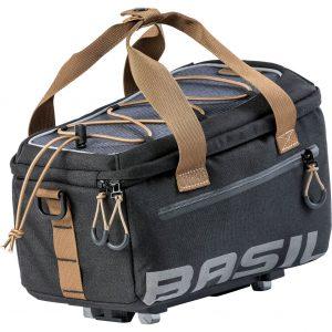 Basil dragertas Miles trunkbag MIK grijs/zwart kopen bij FlorisFietsen in Hoogezand