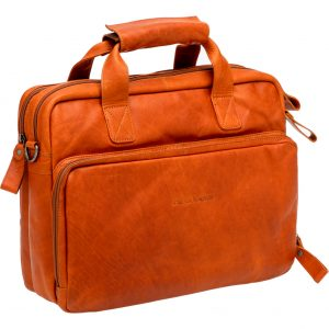 New Looxs laptoptas Cali leer cognac kopen bij FlorisFietsen in Hoogezand
