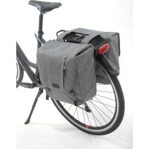New Looxs fietstas dubbel Nova grey kopen bij FlorisFietsen in Hoogezand