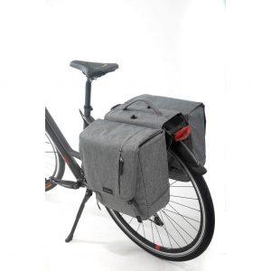 New Looxs fietstas dubbel Nova afneembaar grey kopen bij FlorisFietsen in Hoogezand