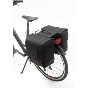 New Looxs fietstas dubbel Nova racktime black kopen bij FlorisFietsen in Hoogezand