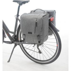 New Looxs fietstas dubbel Nova racktime grey kopen bij FlorisFietsen in Hoogezand