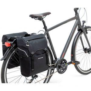 New Looxs fietstas dubbel Sports zwart kopen bij FlorisFietsen in Hoogezand